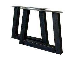 metalen tafel onderstel u schuin