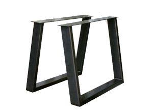 Metalen tafelonderstel schuine U