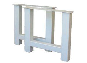 Metalen tafelonderstel wit gepoedercoat